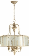 Quorum 8006-4-70 Salento Persian White Drum Pendant Lamp