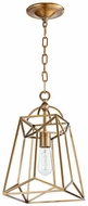 Quorum 820-1-80 Clarkson Modern Aged Brass 9  Foyer Light Fixture