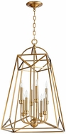 Quorum 820-8-80 Clarkson Modern Aged Brass 18  Entryway Light Fixture