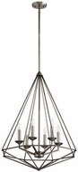 Quorum 8311-6-92 Bennett Contemporary Antique Silver Foyer Light Fixture