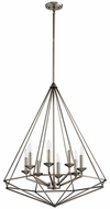 Quorum 8311-8-92 Bennett Contemporary Antique Silver Entryway Light Fixture