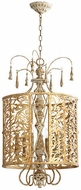 Quorum 8357-6-61 Leduc Florentine Gold Foyer Light Fixture