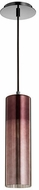 Quorum 837-1311 Laser Contemporary Gunmetal w/ Coffee Mini Pendant Lighting