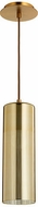 Quorum 838-0280 Laser Modern Aged Brass w/ Gold Mini Pendant Lighting Fixture