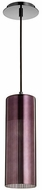 Quorum 838-1311 Laser Contemporary Gunmetal w/ Coffee Mini Hanging Pendant Lighting