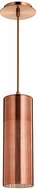 Quorum 838-4949 Laser Contemporary Satin Copper w/ Copper Mini Pendant Hanging Light