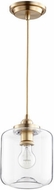 Quorum 845-80 Modern Aged Brass Mini Drop Ceiling Lighting
