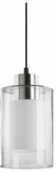 Quorum 882-65 Contemporary Satin Nickel Clear and White Mini Drop Lighting