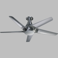 Quorum 88525-16 Daystar Contemporary Brushed Aluminum w/ Clear Blades Halogen 52  Home Ceiling Fan