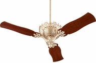 Quorum 92623-60 Le Monde Traditional Aged Silver Leaf w/ Distressed Vintage Walnut Blades 62  Ceiling Fan