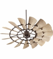 Quorum 96015-86 Windmill Contemporary Oiled Bronze w/ Weathered Oak Blades 60  Home Ceiling Fan