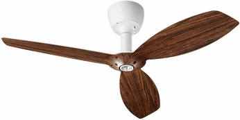Quorum 97003-08-6032424124 Alpha Studio White w/ Walnut Blades Halogen 60  Ceiling Fan