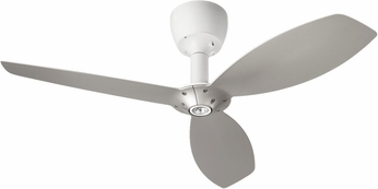 Quorum 97003-08-6036565124 Alpha Studio White w/ Satin Nickel Blades Halogen 60  Ceiling Fan