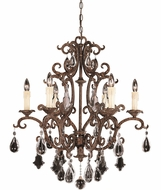Savoy House 1-1402-6-56 Florence New Tortoise Shell 6-Light Ceiling Chandelier