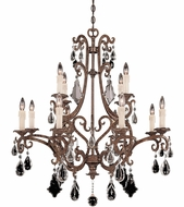 Savoy House 1-1403-12-56 Florence New Tortoise Shell 12-Light Hanging Chandelier