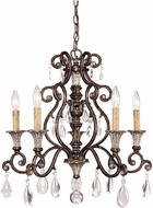 Savoy House 1-3001-5-8 St. Laurence New Tortoise Shell w/ Silver 5-Light Lighting Chandelier