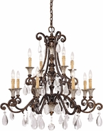 Savoy House 1-3003-12-8 St. Laurence New Tortoise Shell w/ Silver 12-Light Chandelier Lamp