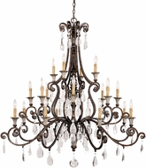 Savoy House 1-3005-20-8 St. Laurence New Tortoise Shell w/ Silver 20-Light Chandelier Light