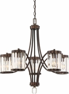 Savoy House 1-4060-5-28 Nora Burnished Bronze Ceiling Chandelier