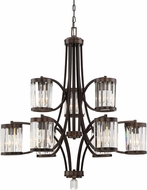 Savoy House 1-4061-9-28 Nora Burnished Bronze Hanging Chandelier