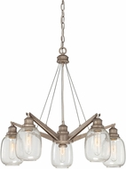 Savoy House 1-4330-5-27 Orsay Modern Industrial Steel Chandelier Light