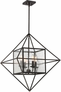 Savoy House 1-489-4-13 Captiva Contemporary English Bronze Pendant Lighting