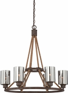 Savoy House 1-5150-6-32 Maverick Artisan Rust 6-Light Chandelier Lamp