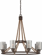 Savoy House 1-5151-8-32 Maverick Artisan Rust 8-Light Chandelier Light