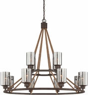 Savoy House 1-5152-12-32 Maverick Artisan Rust Ceiling Chandelier