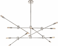 Savoy House 1-7001-12-109 Lyrique Contemporary Polished Nickel Ceiling Chandelier