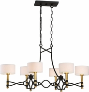 Savoy House 1-7082-6-30 Exeter Carbon w/ Warm Brass Accent Kitchen Island Lighting