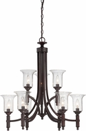 Savoy House 1-7131-9-13 Trudy English Bronze 9-Light Chandelier Lamp