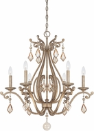 Savoy House 1-8100-6-128 Rothchild Oxidized Silver 6-Light Chandelier Light