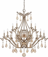 Savoy House 1-8102-15-128 Rothchild Oxidized Silver 15-Light Hanging Chandelier