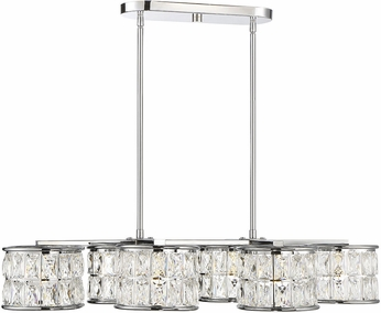 Savoy House 1-9201-6-11 Citrine Polished Chrome LED Island Light Fixture