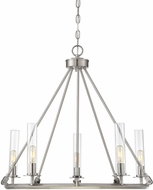 Savoy House 1-9251-5-187 Hasting Modern Brushed Pewter Chandelier Lamp
