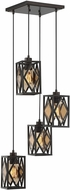 Savoy House 1-9301-4-13 Putman Contemporary English Bronze Multi Hanging Light