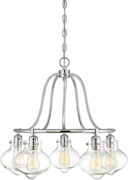 Savoy House 1-9404-5-11 Allman Modern Polished Chrome Lighting Chandelier