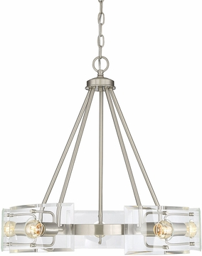 Savoy House 1-9500-5-SN Cardella Contemporary Satin Nickel Mini Chandelier Lamp