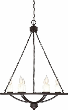 Savoy House 1-9701-6-13 Hampshire Contemporary English Bronze Hanging Chandelier