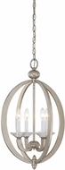 Savoy House 3-1552-4-307 Forum Silver Sparkle Entryway Light Fixture