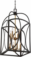 Savoy House 3-4082-8-79 Talbot English Bronze & Warm Brass Large Entryway Light Fixture