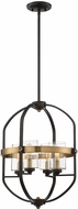 Savoy House 3-8040-4-79 Kirkland Contemporary English Bronze and Warm Brass Foyer Lighting Fixture