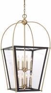 Savoy House 3-9074-8-79 Dunbar Contemporary English Bronze and Warm Brass Foyer Lighting