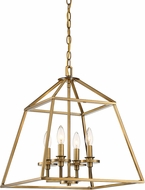 Savoy House 3-9099-4-322 Braxton Warm Brass Foyer Light Fixture