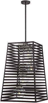 Savoy House 3-9171-4-108 Lakewood Contemporary Bronze w/ Stainless Steel Indoor / Outdoor Entryway Light Fixture