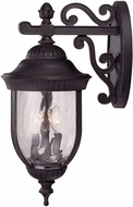 Savoy House 5-60323-186 Castlemain Traditional Black w/ Gold Outdoor 10 Wall Sconce Lighting
