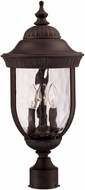 Savoy House 5-60329-186 Castlemain Traditional Black w/ Gold Outdoor Post Light Fixture