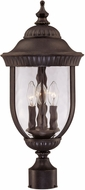 Savoy House 5-60329-40 Castlemain Traditional Walnut Patina Exterior Post Lighting Fixture