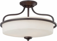 Savoy House 6-6224-3-13 Charlton English Bronze 17.25  Flush Mount Light Fixture